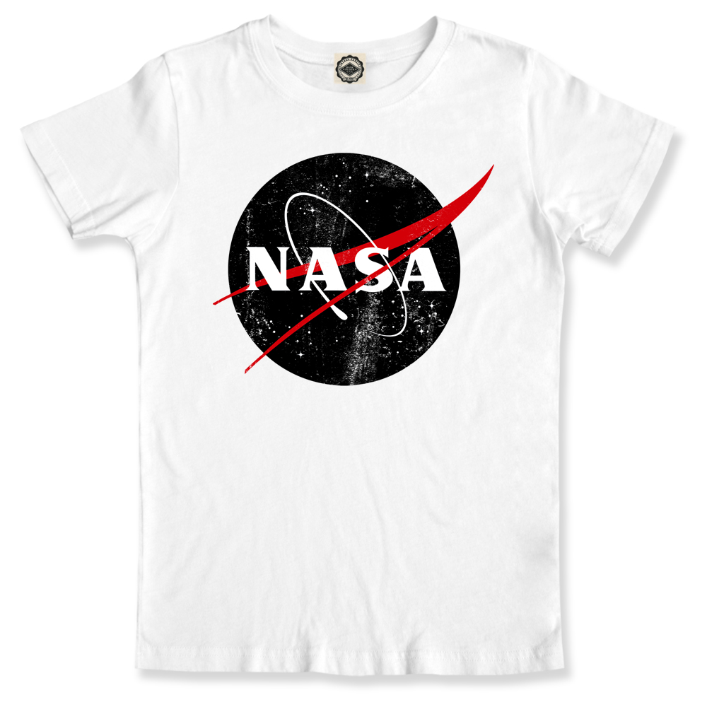NASA Official Logo Space Boy/'s Licensed Heather Charcoal T-Shirt New