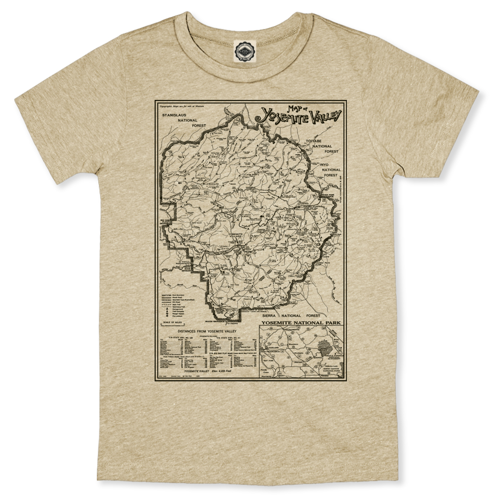1e7692b13 Yosemite Valley National Park Map Men's Tee
